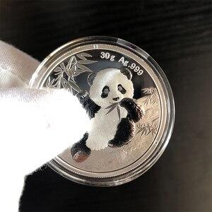 Панда монета, 30 г, новые UNC коллекционные предметы, Китай 10 юаней, настоящая Серебряная Памятная монета, подарок на Новый год 2020