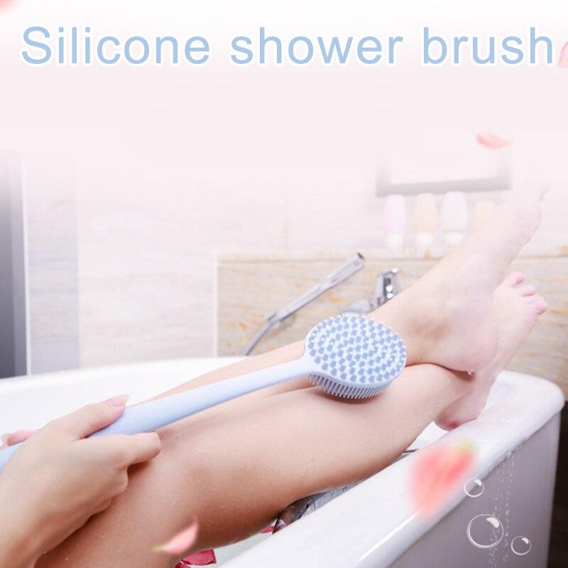 2019 1 pçs escova de banho silicone