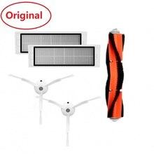 Original For Xiaomi Robot Vacuum Part Pack of HEPA Filter Main Brush Side for mijia 1 & 1S roborock Cleaner