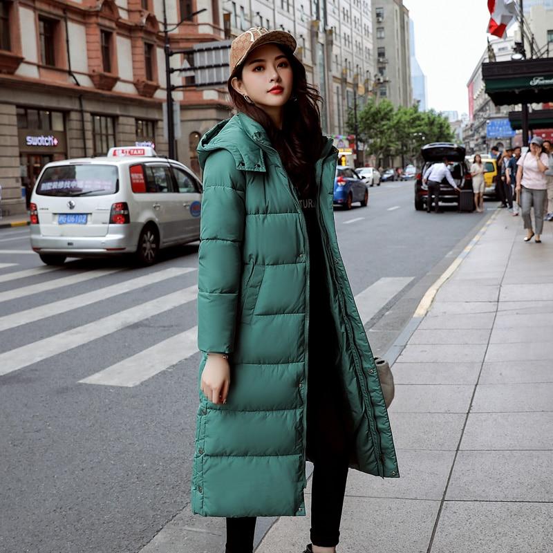 Fashion Women Winter Coat Long Slim Thicken Warm Jacket New Plus size jackets 2019 Cotton Padded Jacket Outwear   Parkas