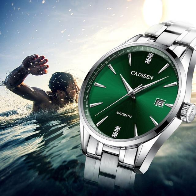 CADISEN 2019 新メンズ機械式時計トップブランドの高級時計男性ファッション自動腕時計メンズ防水レロジオ masculino