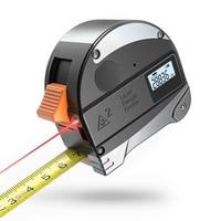 30M Digital Laser Range Finder Distance Meter W/ Tape Measure Retractable LCD Measuring Tape Infrared Rangefinder USB Gauge