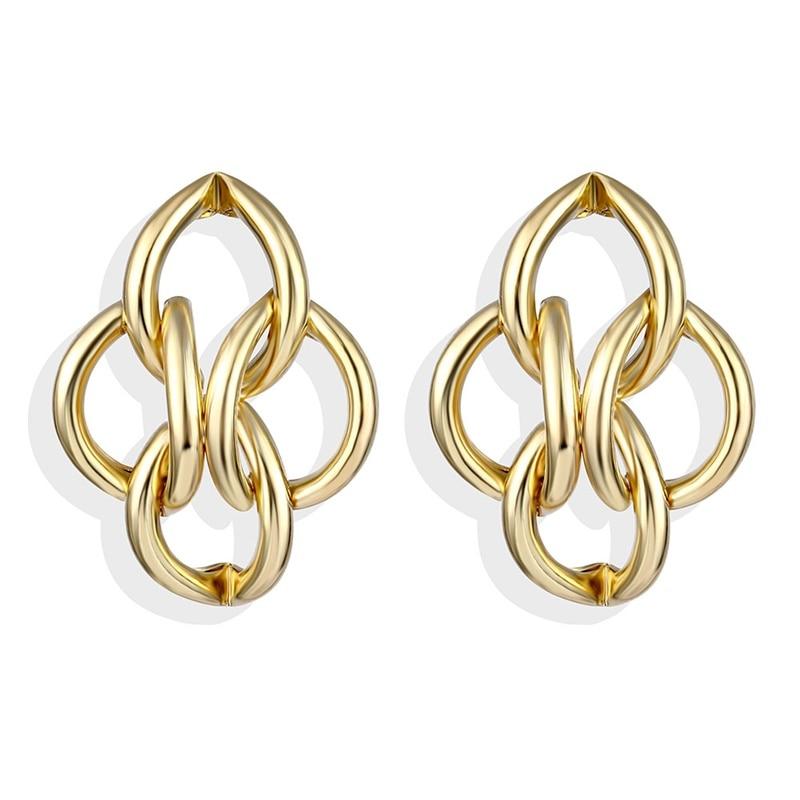 IPARAM, новинка, большие круглые серьги-кольца для женщин, модные, массивные, золотой, в стиле панк, очаровательные серьги, вечерние ювелирные изделия - Окраска металла: IPA0101-2