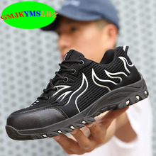 New indestructible, smash-proof, puncture-resistant safety shoes, work shoes, fashionable and breathable shoes недорого