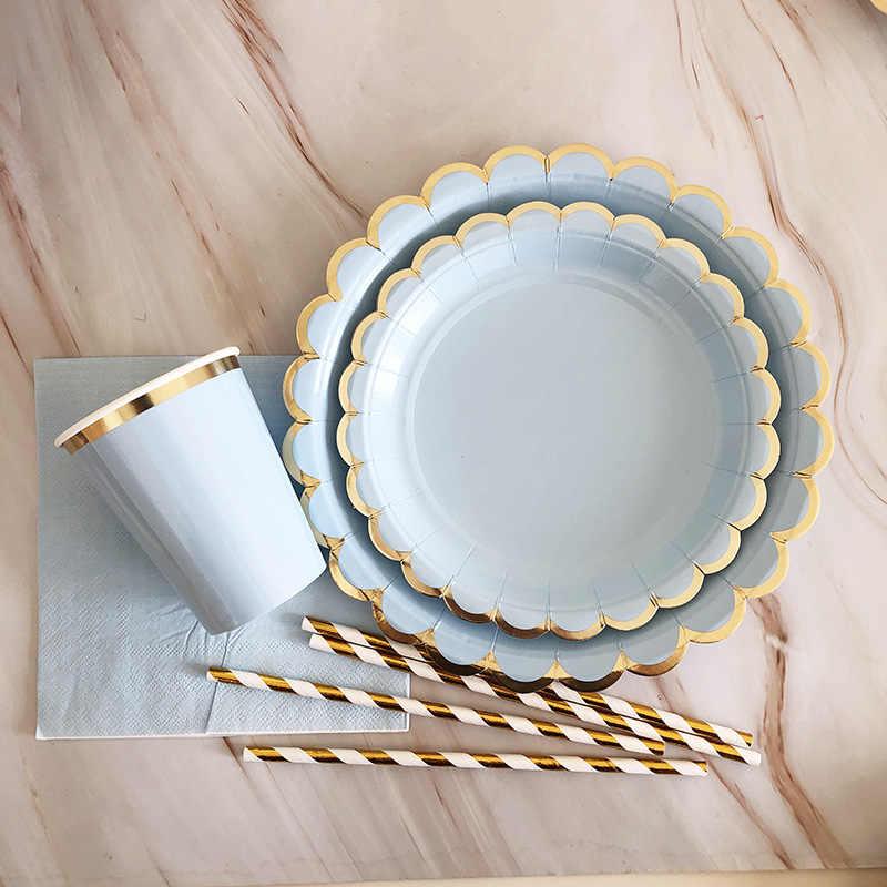 الياقوت الأزرق بنين صالح حفل زفاف وعيد ميلاد الطفل دش ديكور منديل البرنز كأس لوحة لوازم الطاولة/المائدة قابل للتصرف لوازم