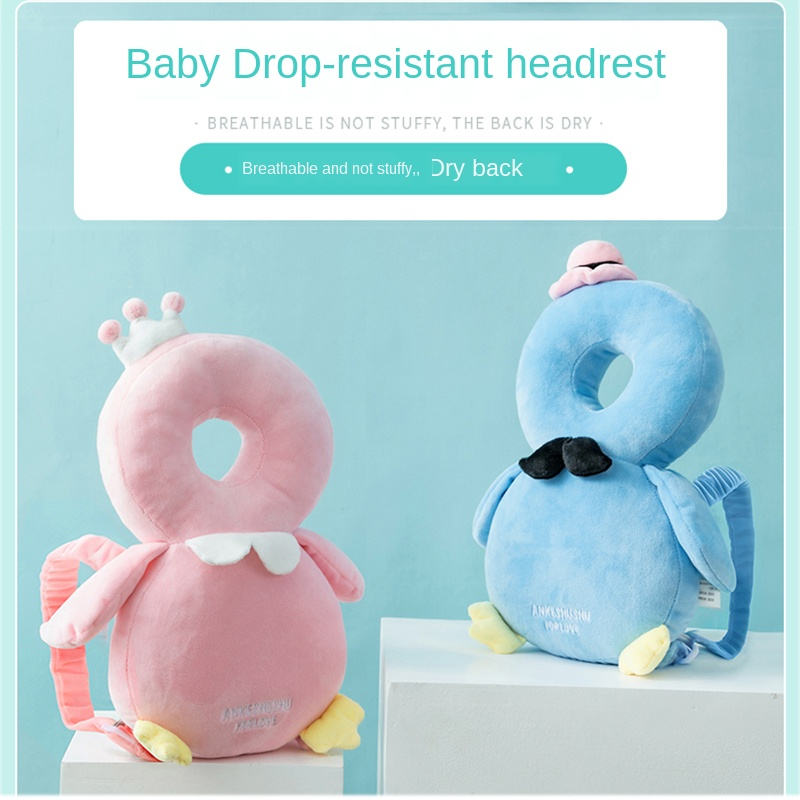 Baby Dorp-resistant Headrest Pillow Nursing Soft Breathable Kid Toddler Walking Cushion Boy Girl Head Protection Pad 30*19cm