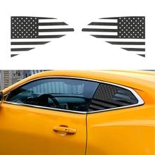 for Chevrolet Camaro 2017 2018 2019 2020 Rear Triangle Window Decoration Cover Trim Sticker Carbon Fiber Car Accessories