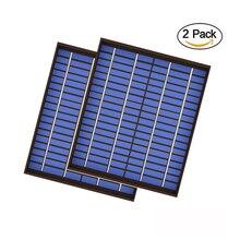 2pcs x 20 와트 태양 전지 패널 18V 20W 1.1A 미니 PET 다결정 PV 모듈 셀 충전 12V 배터리 충전기 20 와트 와트