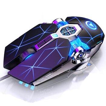 Gaming Keyboard Mouse Mechanical Feeling RGB LED Backlit Gamer Keyboards USB Wired Keyboard Computer Game Keyboard For PC Laptop 4