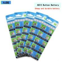 Фабрика продает 100 шт. щелочные LR44 1,5 V AG13 76A G13 G13A D76A PX76A A76 GPA76 1166A RW82 4276 L1154 Кнопка Батарея