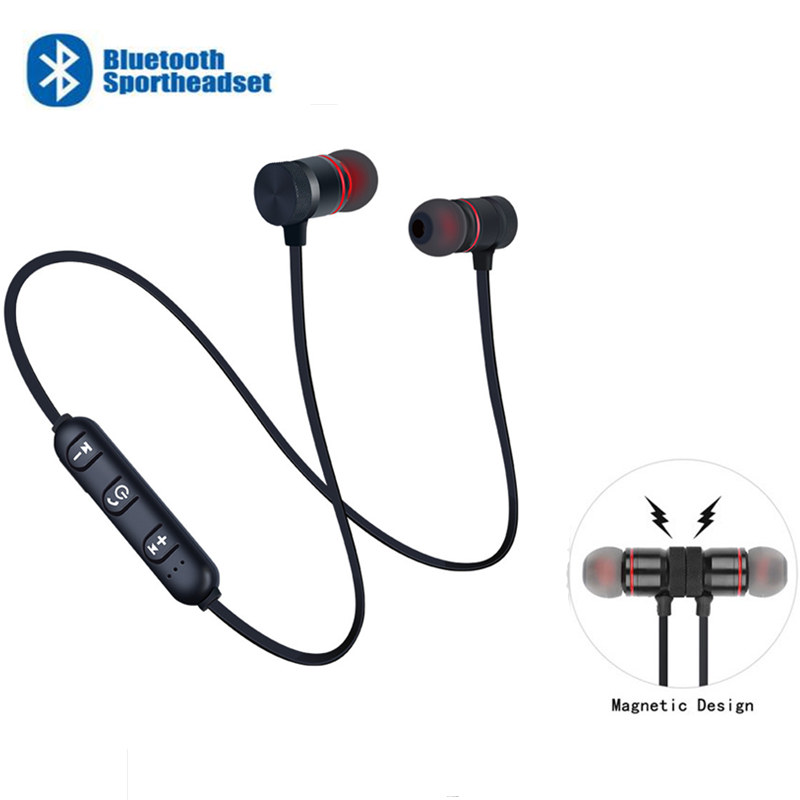 KUGE Wireless Bluetooth Earphone Handsfree Neckband Magnetic Headset Stereo Sport Music Headphone With Mic For All Smart Phone