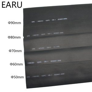 1 metr 2:1 czarny 50mm 60mm 70mm 80mm 90mm termokurczliwe rurka termokurczliwa rury drut dropshipping
