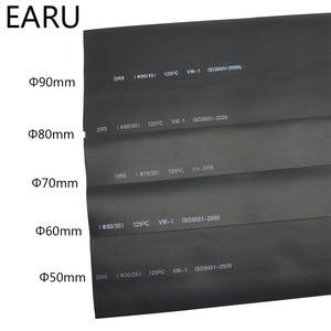 1meter 2:1 Black 50mm 60mm 70mm 80mm 90mm Heat Shrink Heatshrink Tubing Tube Wire Dropshipping(China)