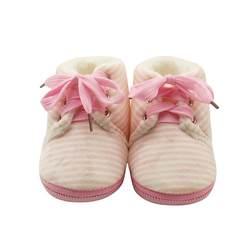 Нескользящая детская обувь в полоску; зимняя теплая обувь для мальчиков и девочек; Милые Первые ходунки; унисекс; модная детская хорошая