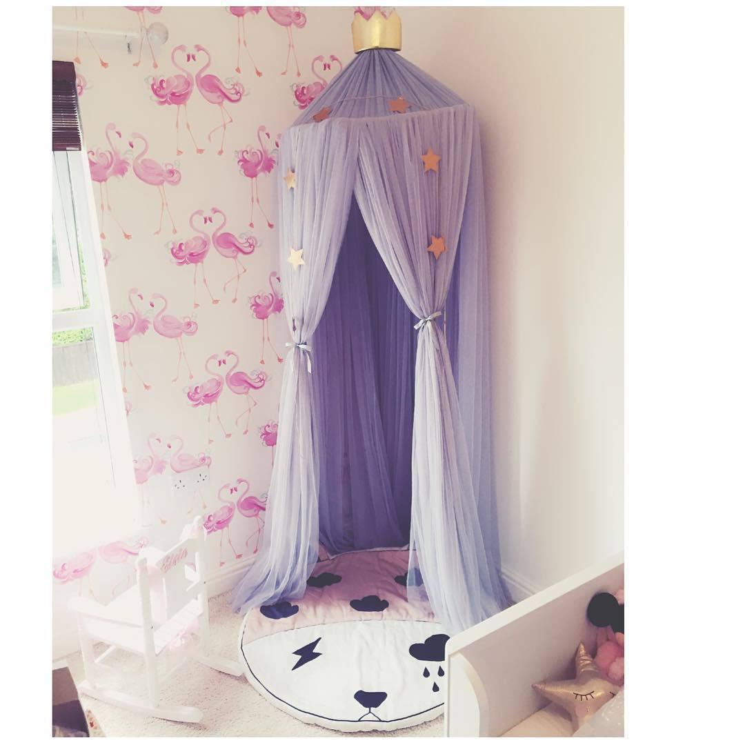 Mosquiteiro cortina de cama do bebê dossel