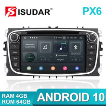 Isudar PX6 2 DIN Android 10 Mobil Radio untuk FORD/Fokus/S-MAX/Mondeo/C-MAX/Galaxy mobil Multimedia Player Video GPS USB DVR Kamera FM(China)
