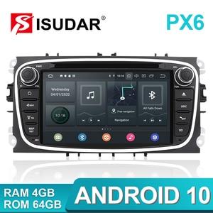 Image 2 - Isudar PX6 2 Din Android 10 Auto Radio Für FORD/Focus/S MAX/Mondeo/C MAX/Galaxy auto Multimedia Player Video GPS USB DVR Kamera FM