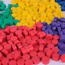 80 peças de madeira do jogo das cores dos pces 8 peças coloridas do xadrez para acessórios 10*5mm dos jogos