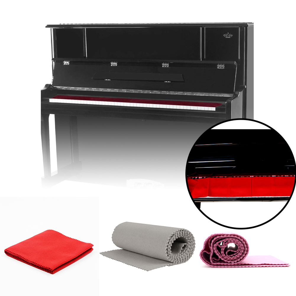 Cotton Blend Music Instrument Piano Keyboard Cover Beginner Soft Cleaning Cloth Master Entertainment Full Decorative Anti-Dust