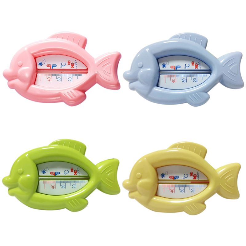 Cute Small Cartoon Fish Shaped Baby Bath Water Thermometer Toy Toddlers Kids Shower Tub