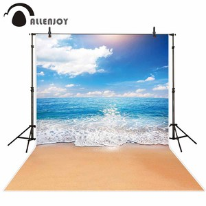 Image 2 - Allenjoy photophone backdrops Summer sky sea beach ocean waves Natural scenery sand photographic background photocall photobooth