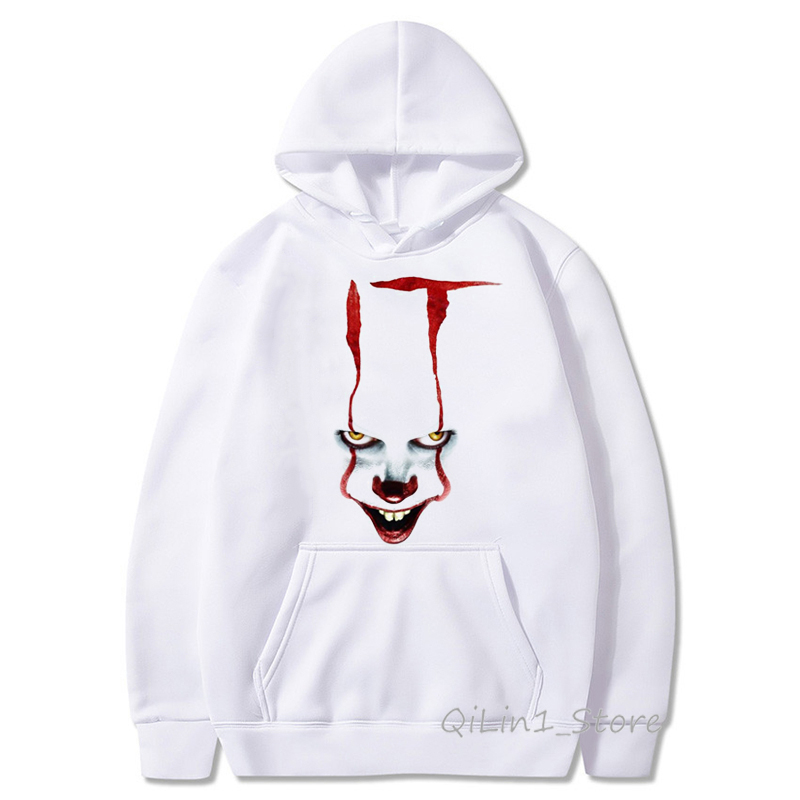 IT Movie Cap Hoodies Men Women Sweatshirt Stephen King High Quality Clown Pennywise Loser Lover Unisex Halloween Custom Hoodie