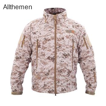 Allthemen Mens Casual Camouflage Jacket Men Clothes Autumn Men's Windbreaker Coat Male Outwear Military  Army Tactical Clothing mens military army combat tactical windbreaker hiking outdoor jacket men water resistant outerwear hoodie coat hunting clothes
