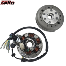 TDPRO 6 Coil Ignition Magneto Stator Rotor Flywheel Kit New For Motorcycle Lifan 110cc 125cc 140CC 150CC Engines SSR SDG Pitbike