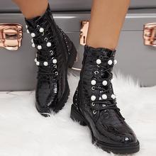 Женские ботильоны [fvfv] женские осенние ботинки новинка 2020