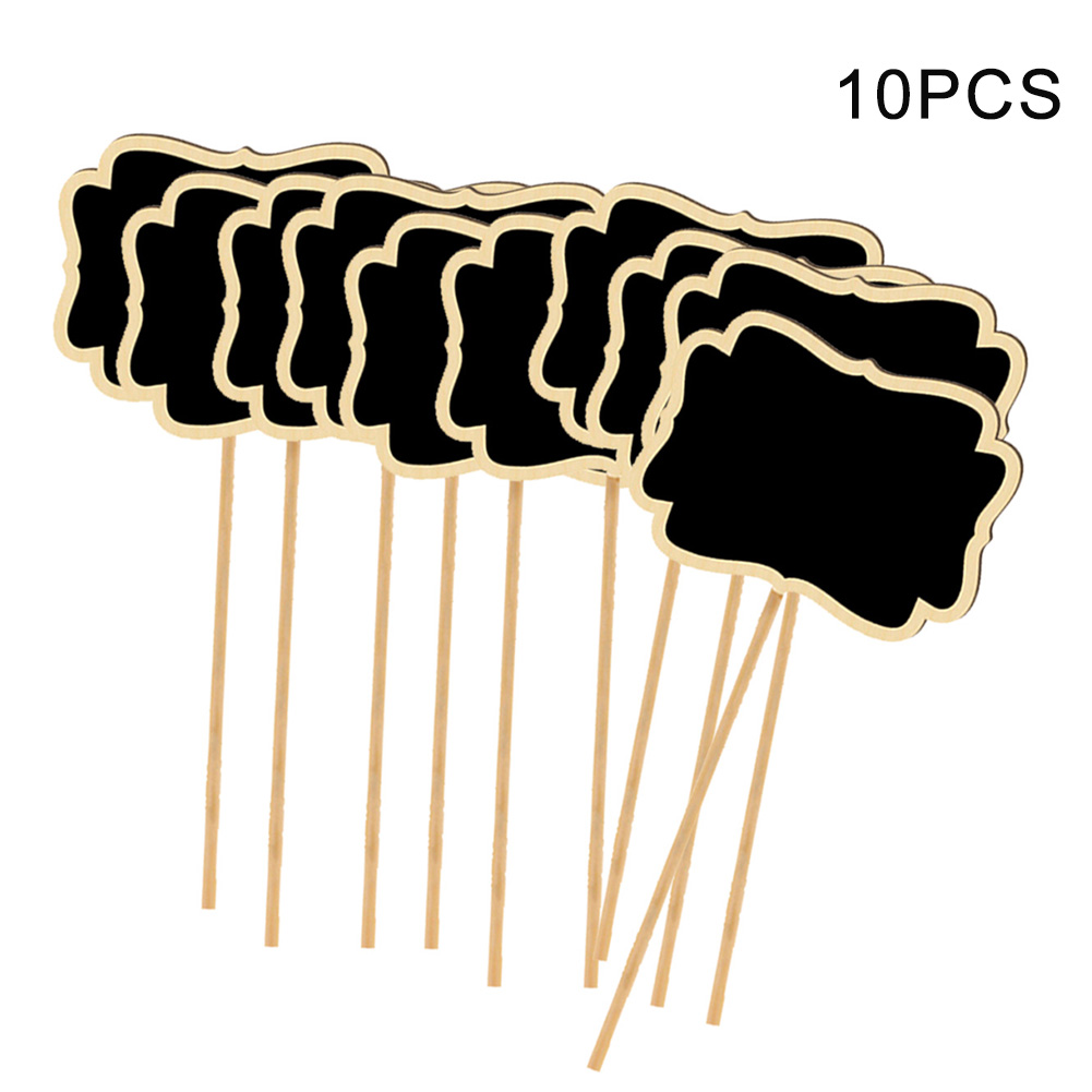 10pcs/set T Type Flowers Easy Write Fruit Agriculture With Blackboard Vegetable Labels Plant Tags Garden Markers Wooden Home
