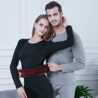 New Men Winter Cotton Thermal Underwear Padded and Thickened Youth Suit Round Collar Long Johns Women Warm Undershirts