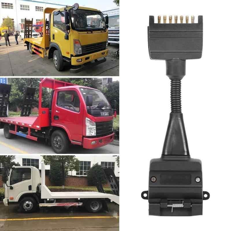 Hitam 7 Sampai 12 PIN Flat AU Trailer Pria Steker Soket Konektor Adaptor ABS Portable Colokkan dan Mainkan Mudah gunakan untuk Truk