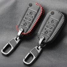 3 botones cuero coche caso clave para PEUGEOT 307, 308, 407, 408, 508, 2008, 3008 para Citroen C3 C4 C4L C5 C6 Protector de la cubierta