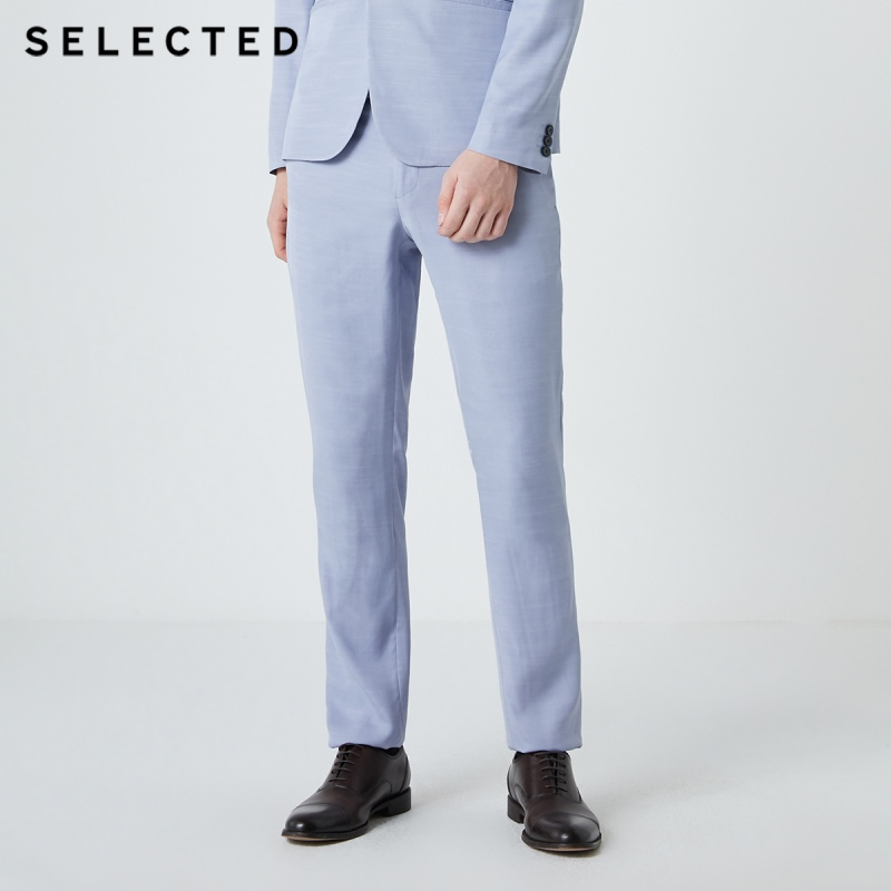 SELECTED Men's Regular Slim Fit Pure Color Business Casual Suit Pants S|419218512