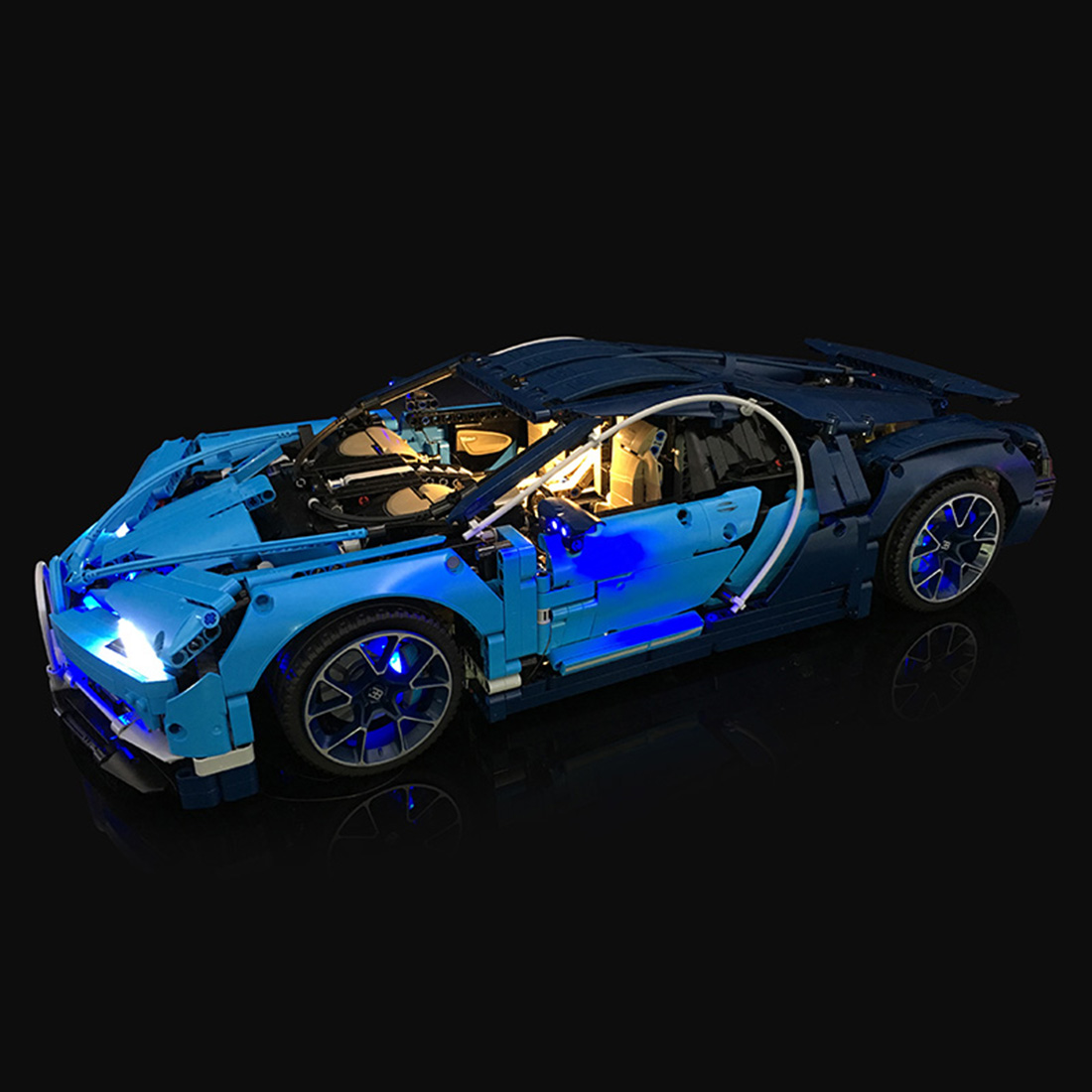 42083 Lithium Powered LED Light Building Block Accessory Refit Kit for 42083 Super Car Construction Wireless Charging Version