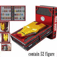 Super Heroes Iron Man Underground Laboratory Base Mark Armor Set building book Block Legoinglys Display box Marvel Avengers gift