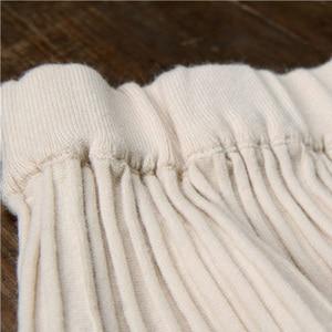 Image 5 - Setwigg女性の秋ドレープリブプリーツロングニットスカートエレガントな冬のウールブレンドaラインロングニットスカート弾性ウエスト