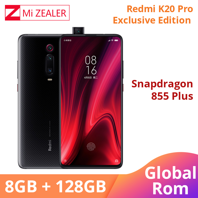 ROM globale originale Xiaomi Redmi K20 Pro édition Exclusive 8GB RAM 128GB Snapdragon 855 Plus 4000mAh 6.39 ''Smartphone