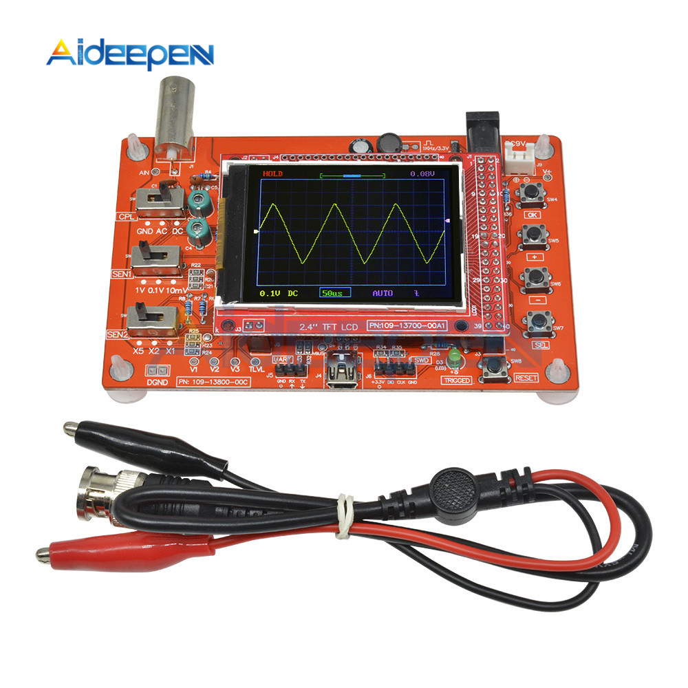 100% Quality 2.4 Tft Digital Oscilloscope Assembled 200khz Tester 1msps Bandwidth Probe Soldered Oscilloscope Parts