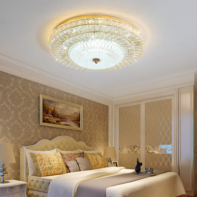 European Style Crystal Ceiling Lamp Warm Restaurant LED Living Room Lamp Bedroom Lamp Marriage House Lights Minimalist Modern Ci