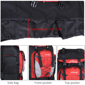 Image 5 - Mens 80L Big Hiking Mountaineering Backpack Climbing Hiking Backpack Camping Equipment Outdoor Fishing Bags Travel Accessories
