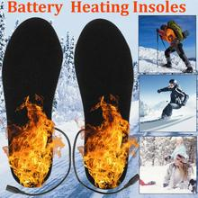 USB Heated Shoe Insoles Feet Warm Sock Pad Mat Electrically Heating Insoles Washable