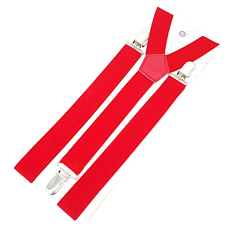 2.5CM Three Good Quality Clips Unisex Suspender