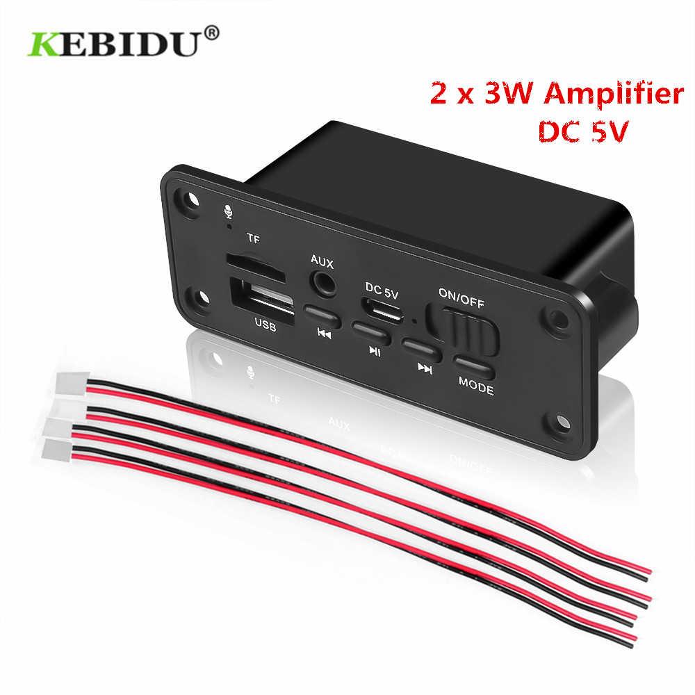 KEBIDU Bluetooth MP3 Wma デコーダボードオーディオモジュール USB TF Fm レシーバー Dc 5V MP3 プレーヤー 2 × 3 ワットアンプのための車