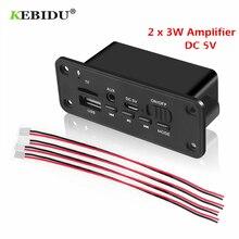 KEBIDU DC 5V Bluetooth MP3 WMA Decoder Board Audio Module USB TF Radio Wireless FM Receiver MP3 Player 2 x 3W Amplifier For Car