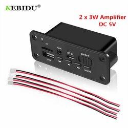 Amplificador sem fio do leitor de mp3 2x3 w do receptor de fm do usb para o carro kebidu dc 5v bluetooth mp3 wma decodificador placa módulo de áudio