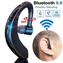 360 Adjustable Ear-fit Bluetooth Headphone with Mic Voice Control Wireless Bluetooth Headset Earbuds for Drive Earphone