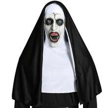 Máscara de freira a freira cosplay máscaras valak halloween terror trajes para as mulheres assustador máscaras adereços traje luxo mascarillas para o homem