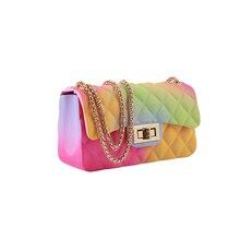 Модная женская желеобразная сумка на плечо из ПВХ сумка на цепочке сумки через плечо
