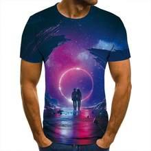 3d T -Shirt Starry Romantic Clothing Men Women Children Short Sleeve Cool Tees Fashion Casual Summer Boy Girl Kids Streetwear